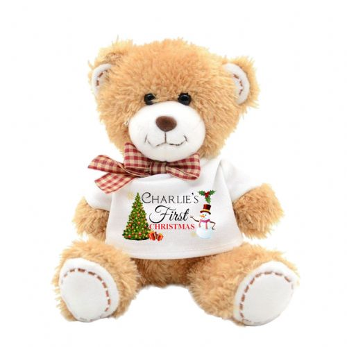 Personalised First Christmas Cute Teddy Bear N12